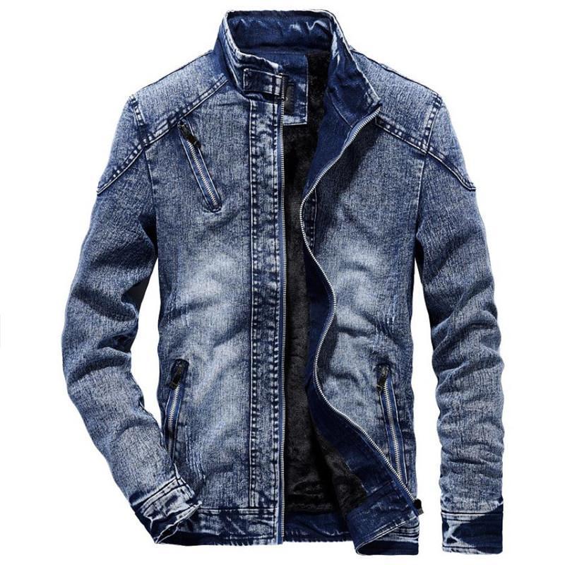 Acquista Autunno E Inverno Caldo Giacca Di Jeans In Cotone Moda Cappotto Uomini  Giacca Camicia Da Uomo Gioventù Retro Casual Stand Design Colletto A  55.93  ... 041faeb888f