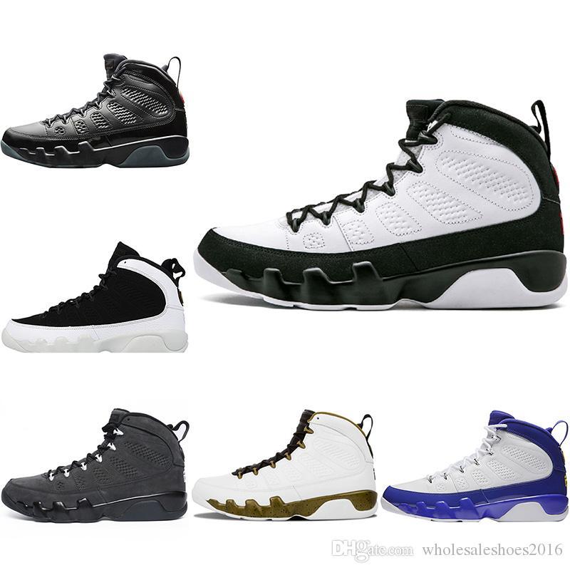 7ece6cbb64d 2018 Top Designer Mens 9 9s Basketball Shoes Anthracite Bred LA Space Jam  Black White Men Sport Trainer Sneakers US 8-13 Basketball Shoes Sneakers  Sports ...