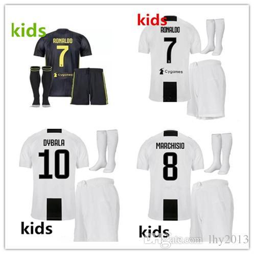 6fd08c9a780 2018 Juventus Soccer Jersey Kids Kit18 19 RONALDO DYBALA HIGUAIN ...