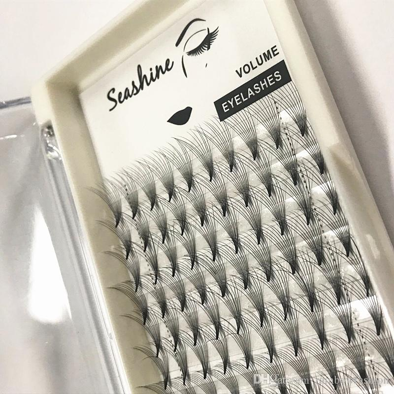 Seashine 10D Volume Eyelash Extension Top Quality Pre Made Fans Heat Bonded Own Brand Free Shipping Factory Direct Sell Wholesale Price
