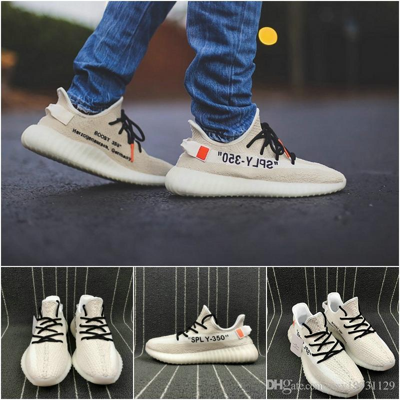 bb7a538f0 2019 2019 Best Quality 350 V2 Butter F36980 Kanye West Sesame F99710 New Running  Shoes Zebra Bred Black Stripes Sneakers With Box Outdoor Shoes From ...