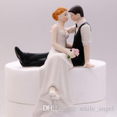 Neue Beuatiful Wedding Cake Toppers Dekoration Cupcake Toppers Motorrad Get Away Resign Figur Handwerk Souvenir Neue Hochzeit Gefalligkeiten Topper