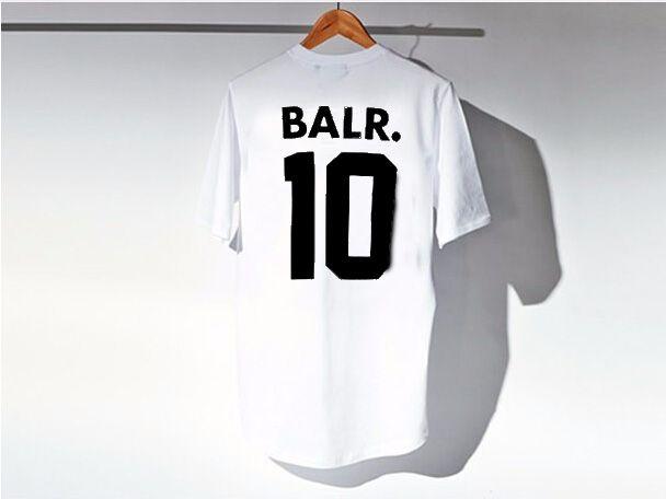 Brand Tee Europe English alphanumeric street all-match cotton T-shirt men fashion sports soccer ball wear casual tee