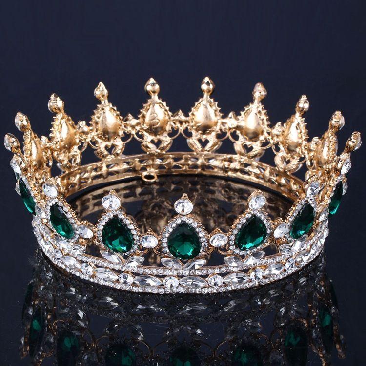 Corona nuziale di lusso Cristalli di strass Royal Wedding Crowns Princess Crystal Accessori capelli Festa di compleanno Diademi Quinceaner Sweet 16