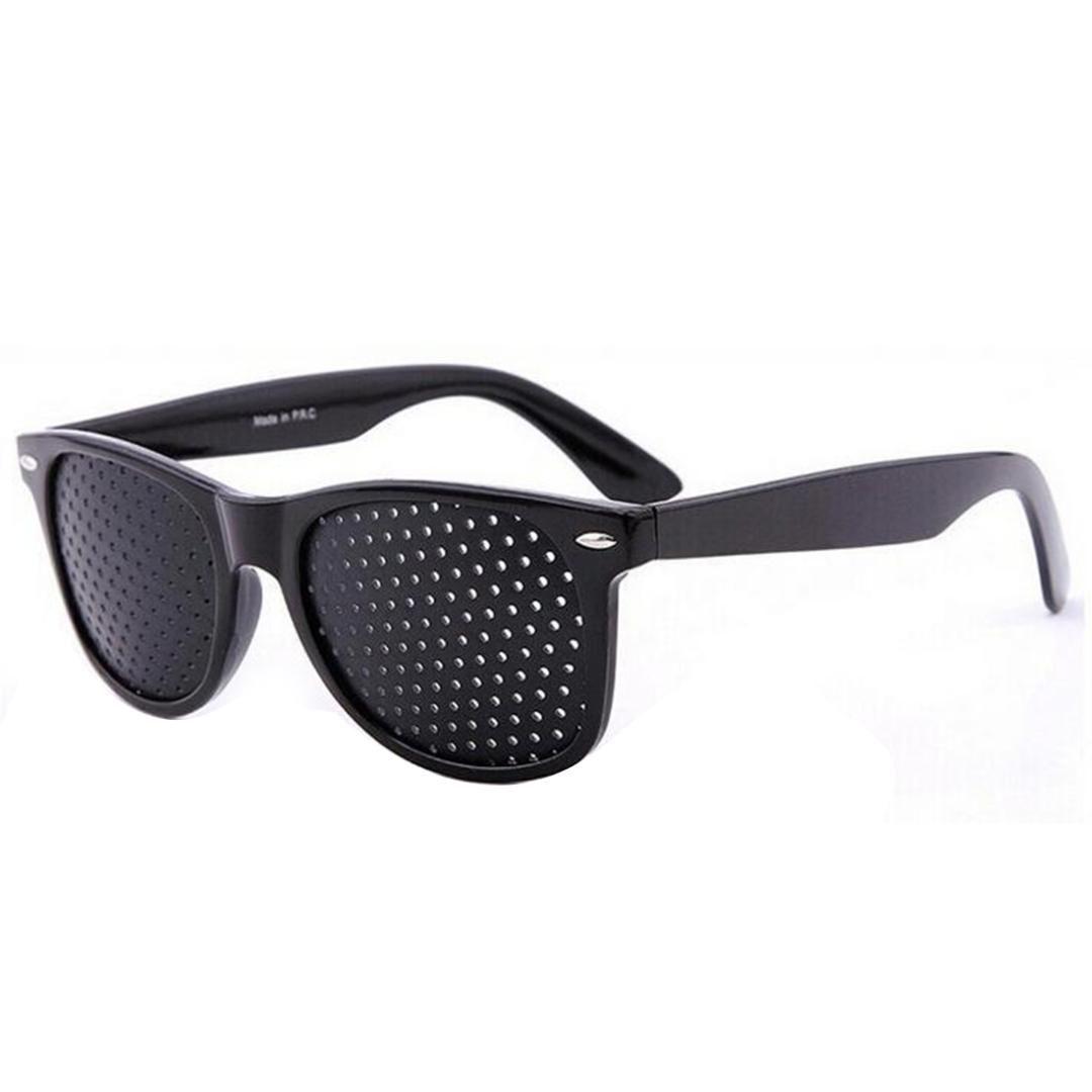 8420eedae0df 2019 Vision Care Pin Hole Sunglasses Men Women Anti Myopia Eye Exercise  Improver Glasses Eyesight Natural Stenopeic Glasses From Grandliu, $33.74 |  DHgate.