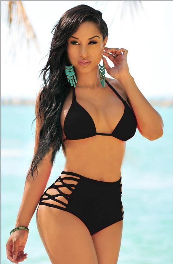 Nuovo costume da bagno sexy delle donne del Bikini Ms bello bikini d'impionbatura sexy a vita alta