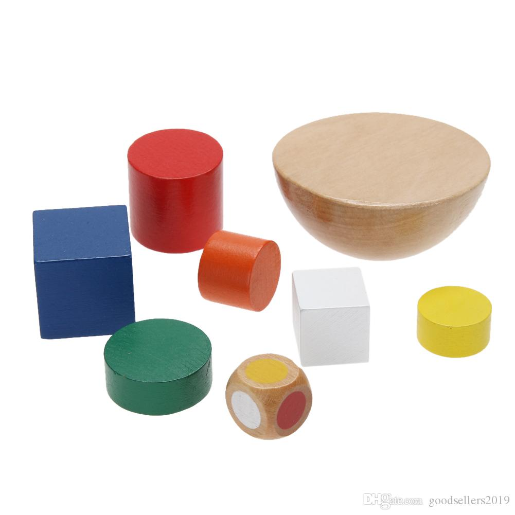 Brinquedos de madeira Hemisfério Equilíbrio Empilhamento Jogo Brinquedos para Crianças Brinquedo De Madeira Educacional Blocos de Construção Crianças Brinquedos Do Bebê