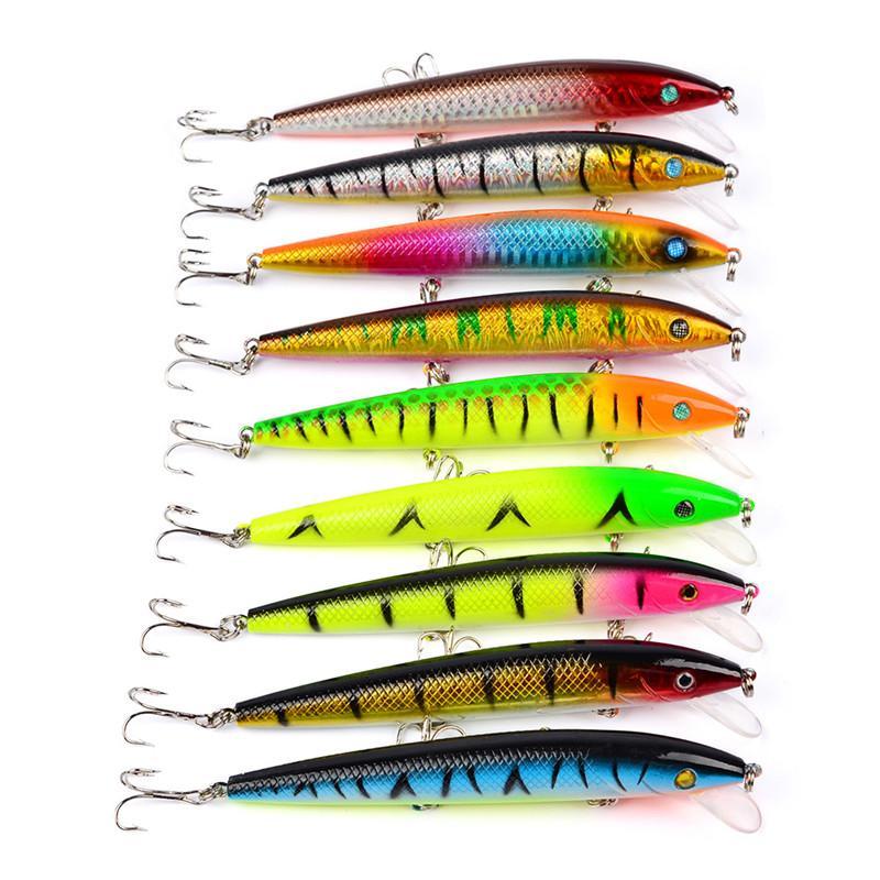 Sıcak Fly Fishing ABS Plastik Minnow Wobbler Isca Yapay Cazibesi 12 cm 13.8g Büyük oyun Tuzlu balıkçılık Crankbaits