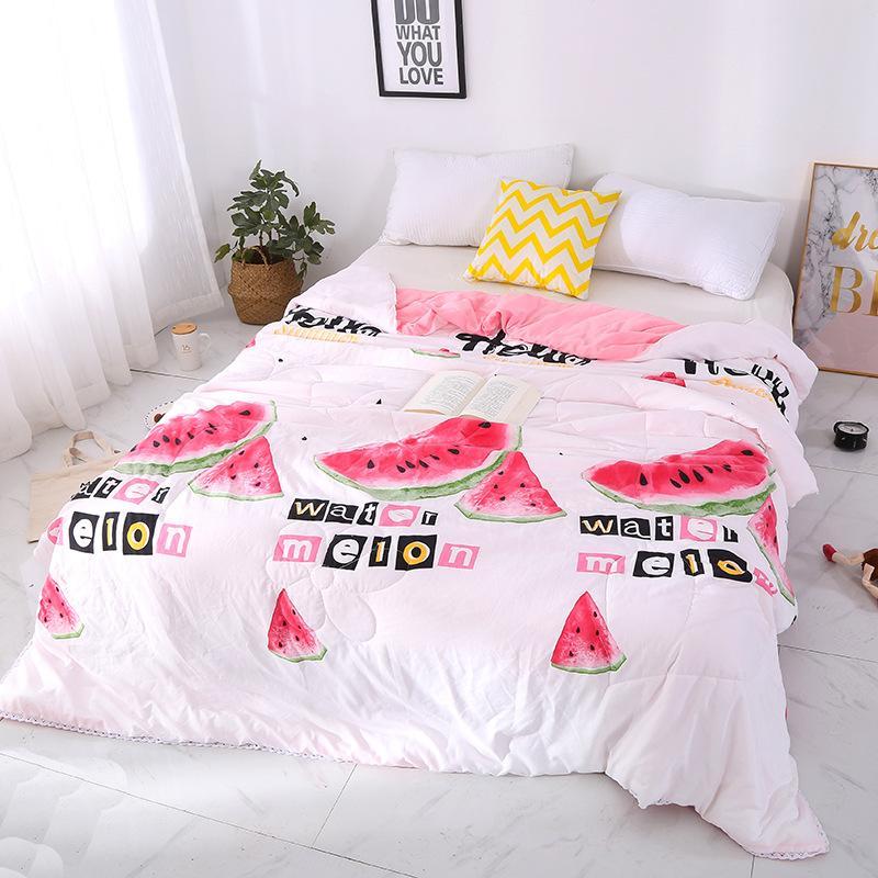 Großhandel Wassermelone Bettdecke Regenbogen Sommer Tröster