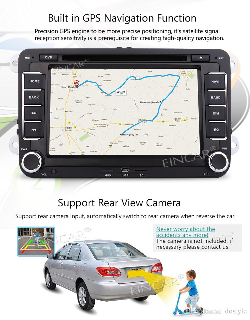 Car video Double din 2 din automagnitol car radio stereo for VW car audio in dash DVD player autoradio 8GB gps map card