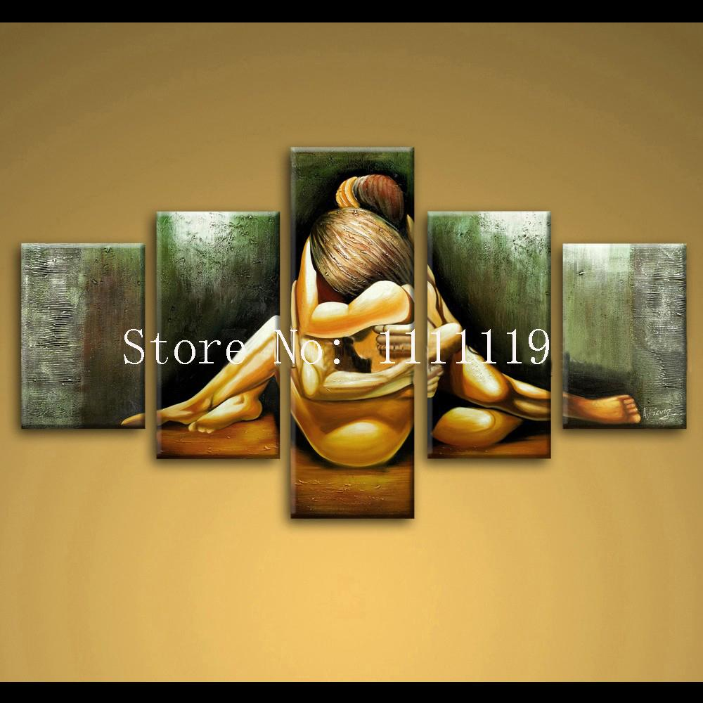2018 Top Artist Hand Painted Oil Painting Love Unique Abstract ...