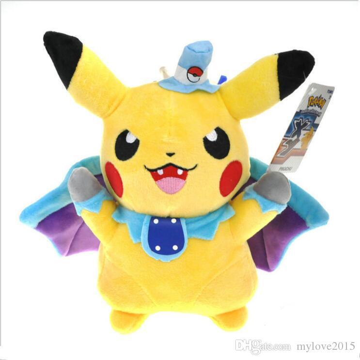 2019 24cm Pikachu Cosplay Vampire Bat Plush Toys Children Gift Cute