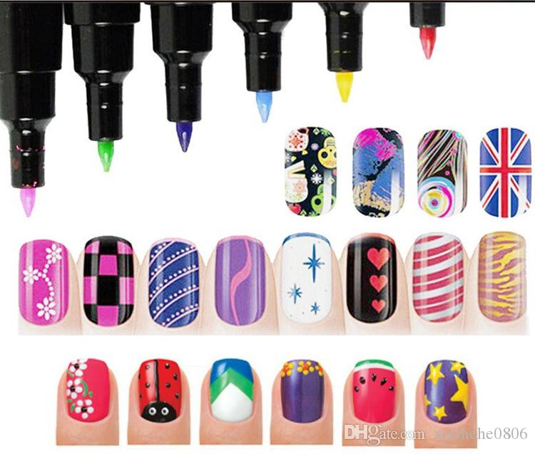 Nail Art Pen For 3d Diy Decoration Nail Polish Pen Set 3d Design ...