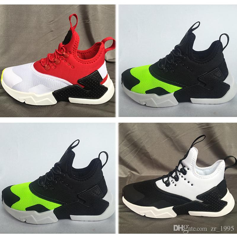 a7ba2bfbb5797 2018 Air Huarache Infant Running Shoes Kids Sports White Children Huaraches  Huraches Designer Hurache Casual Trainers Kids Sports Sneakers Kids Athletic  ...