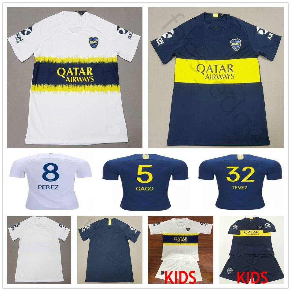 af8b6d0381 Compre 2018 2019 Boca Juniors Camisa De Futebol 8 Perez 5 Gago TEVEZ  Benedetto 7 Pavon 10 Carlitos Casa Personalizada Longe Adulto Crianças  Camisa De ...