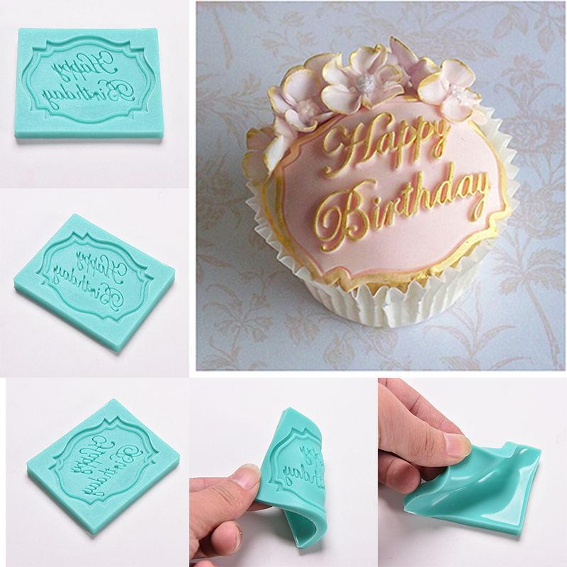 2018 happy birthday letter print mold cake cupcake decoration silicone cake mould fondant chocolate mold gifts for girlfriend kids from carmlin
