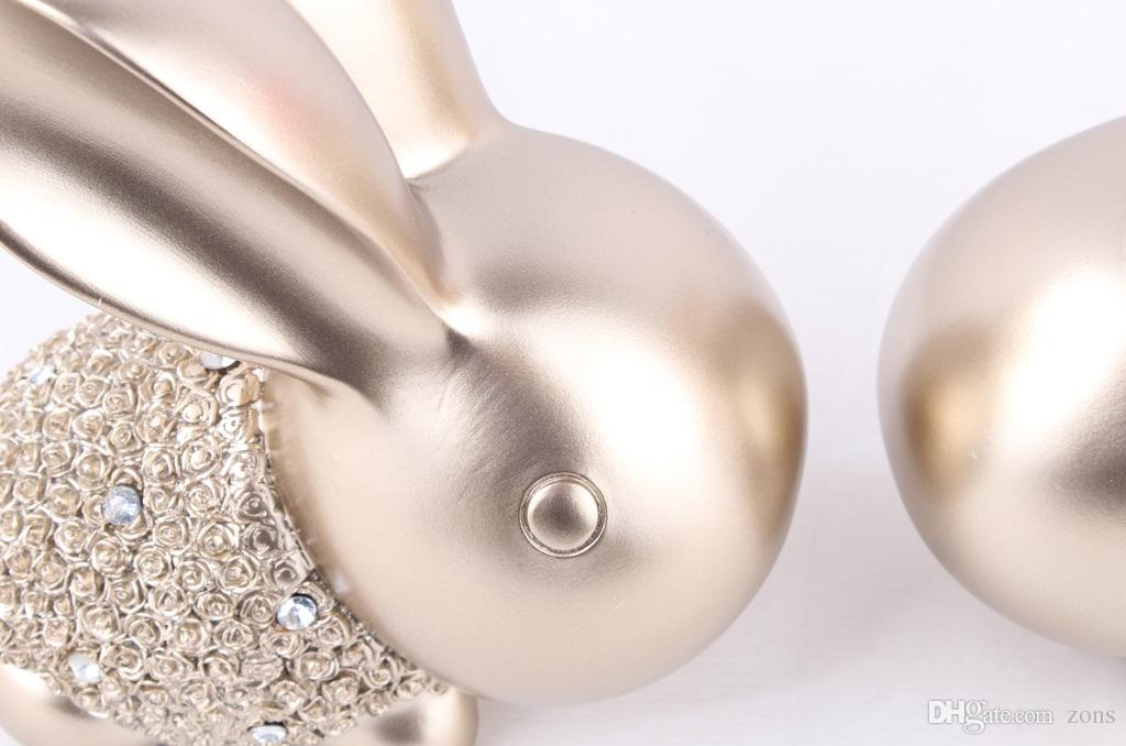 الجنية حديقة مصغرة الأرنب الأرنب الحرف اليدوية أبيض اللون الاصطناعي البسيطة الأرانب الديكورات الراتنج الحرف عيد الفصح الأرنب