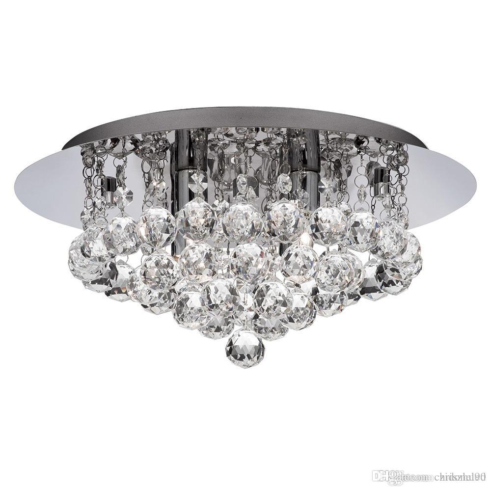 New modern round crystal ceiling light fixtures k9 crystal rain dorp for living room bedroom lighting fixtures dia40h25cm ceiling light crystal ceiling