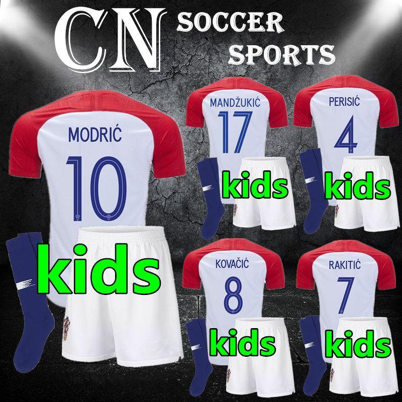 2019 Best Quality 2018 CROATIA Kids Soccer Jersey MANDZUKIC Hrvatska MODRIC  Football Kit Shirt PERISIC KALINIC RAKITIC KOVACIC Children S Jerseys From  ... 7aca91fbf