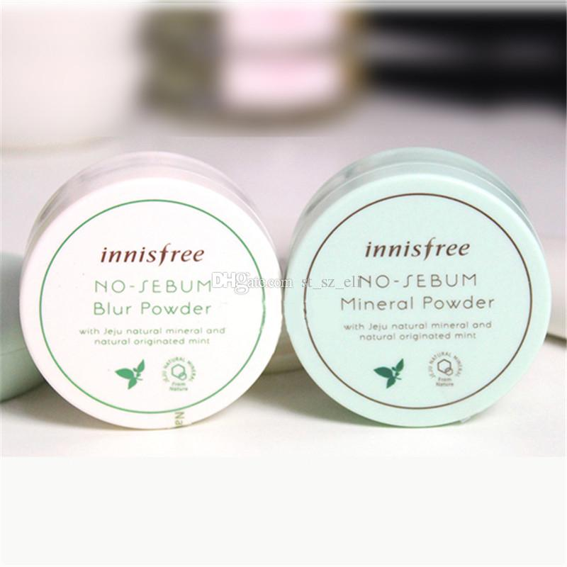 Brand Innisfree No Sebum Mineral Powder + Blur Powder Oil Control Loose Powder Makeup Setting Foundation 5g
