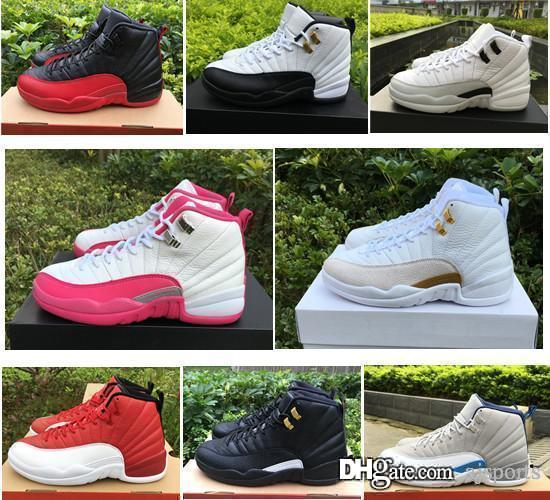 29342d937c6b Cheap 12s 12 OVO White Gym Red Taxi Blue Suede Flu Game Womens Girls Basketball  Shoes Sneakers Black Nylon PSNY 1 1 Basketball Shoe Mens Basketball Shoes  ...