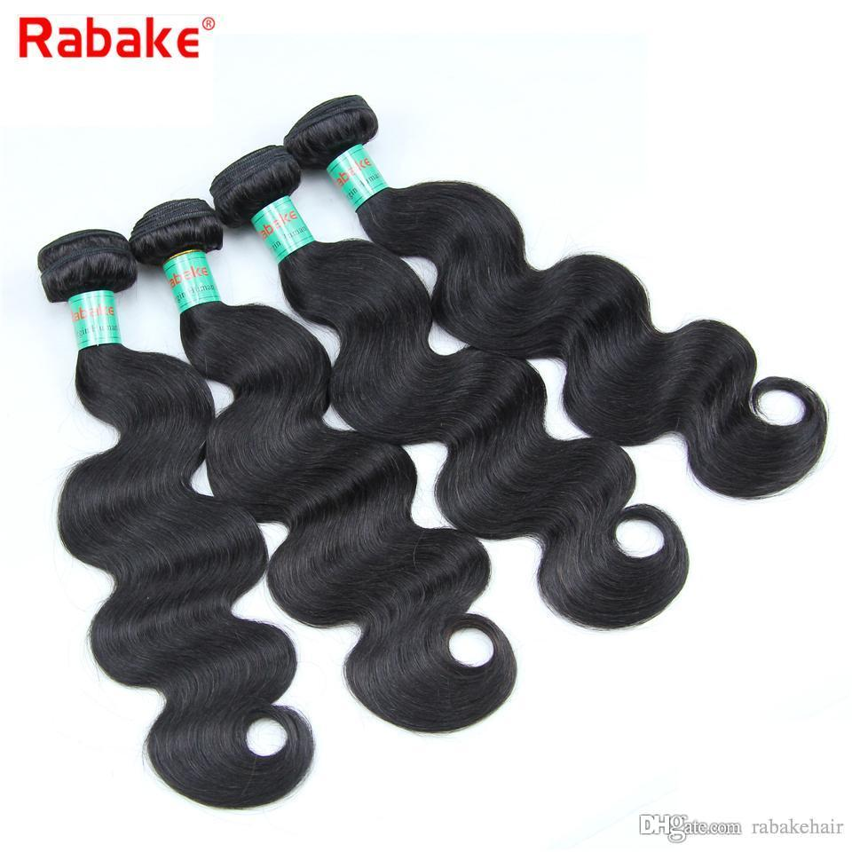 8A Grade Body Wave Brazilian Virgin Hair Bundles Rabake Wholesale Prices Brazilian Body Wave Double Wefts Human Hair Weave Deals 3/4 pcs