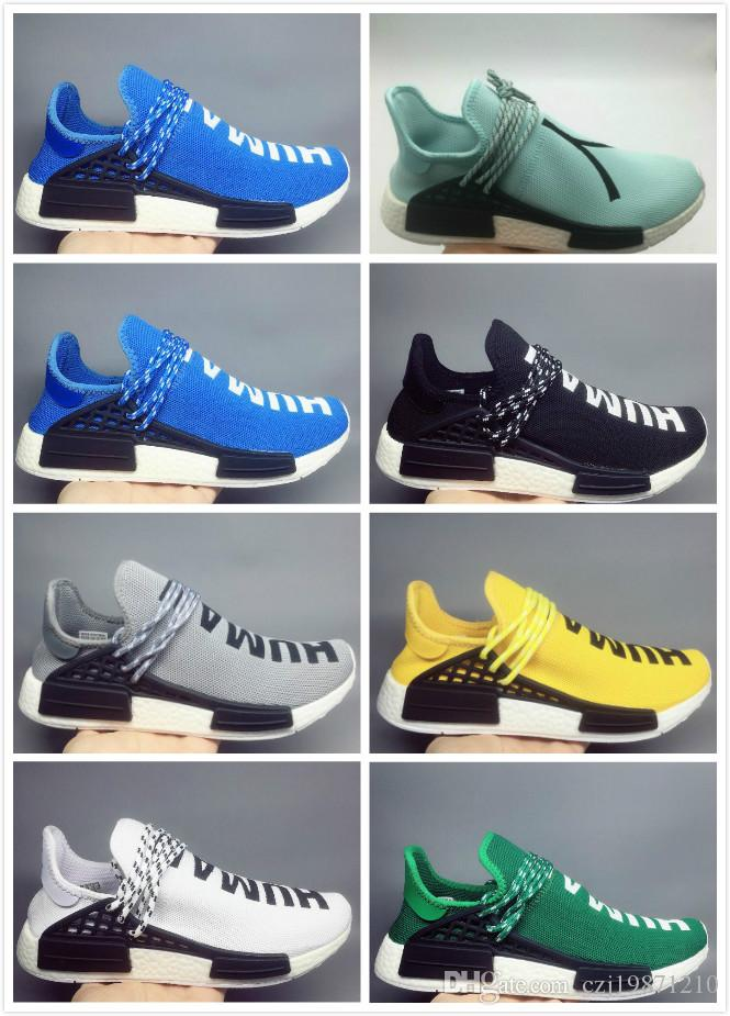 ae8395f62e551 2018 Human Race Kids NMD Factory Real Boost Yellow Red Green Black Orange  NMD Men Pharrell Williams X NMD Running Shoes Sneakers Sports Shoes Online  Running ...