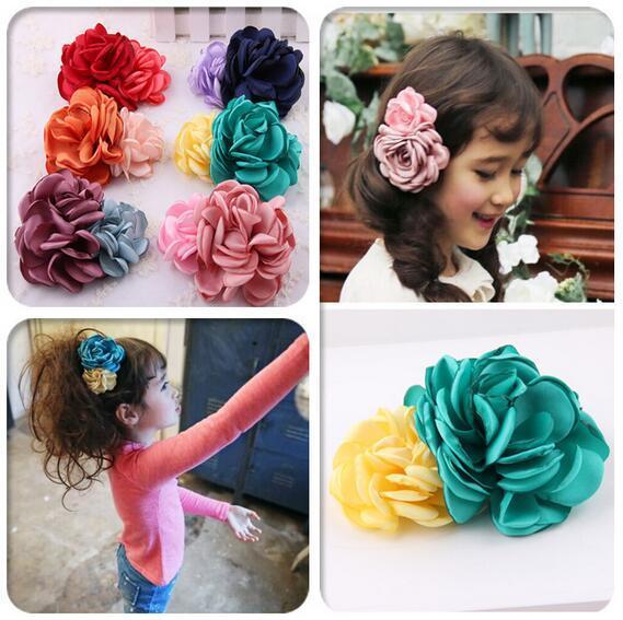 Shabby Flower Girl Kids Hairpin Hair Clip Bobby Pins Barrette Style Accessories For Head Hair Ornaments Hairgrip Hairclip Tiaras