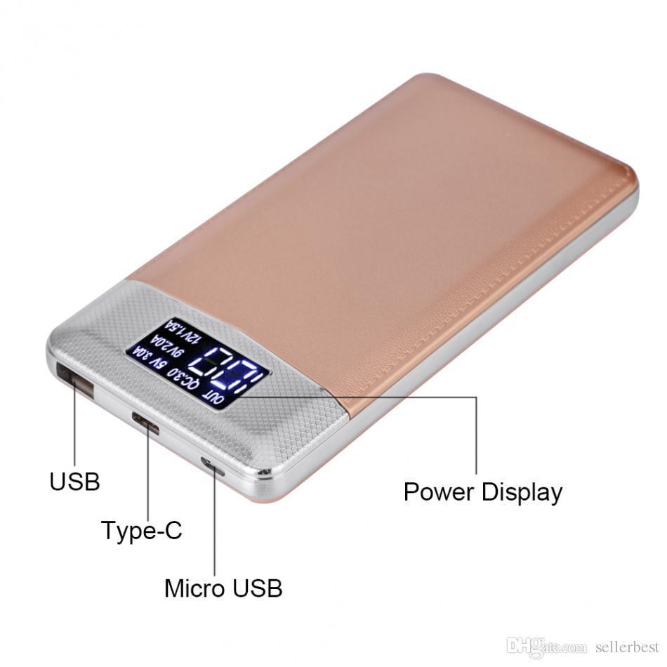 VBESTLIFE USB Şarj Güç Bankası Kılıf Devre DIY Kiti QC3.0 Hızlı Şarj Mikro USB USB Tip-C Girişi LCD Dijital Ekran