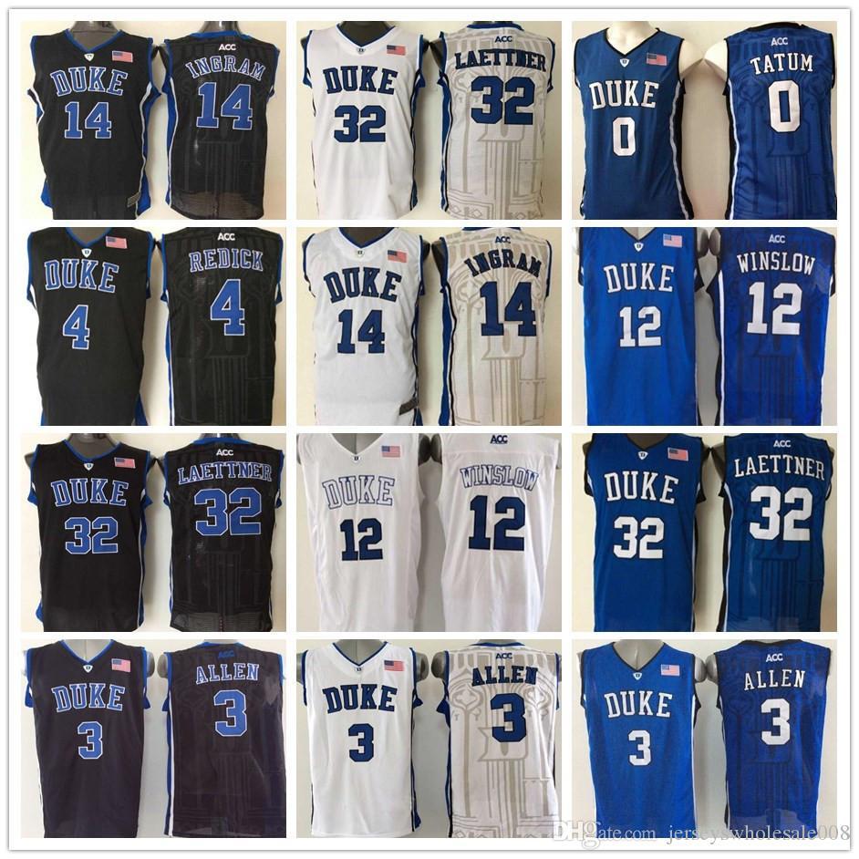 2a812745f90 Mens 3 Grayson Allen 4 JJ Redick Duke 0 Jayson Tatum 12 Justise Winslow  Brandon Ingram Duke Blue Devils Laettner Basketball College Jerseys