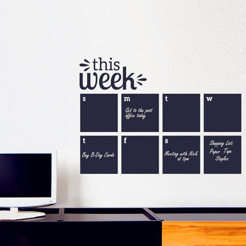 2016 weekly wall planner calendar wall decal chalkboard decals