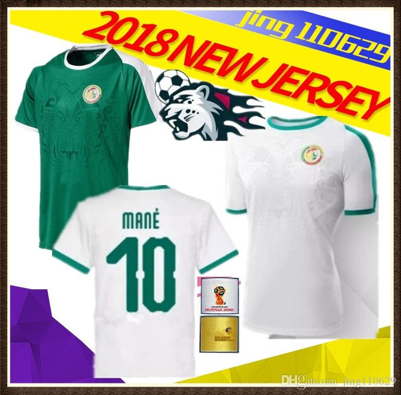 Nueva Copa Del Mundo 2018 Senegal Lejos Camiseta De Fútbol De Fútbol Del Equipo  Nacional De Fútbol De Senegal Lejos Camiseta De Fútbol De 2018 Ventas De ... d38d18e16