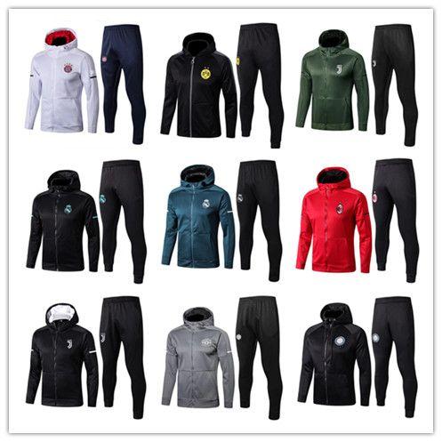 6504189cc 2018 ALEXIS Soccer Jacket Tracksuit 17 18 OZIL POGBA LUKAKU Ronaldo DYBALA  REUS VIDAL MULLER Football Tops Coat Zipper Hooded Jackets Set UK 2019 From  ...