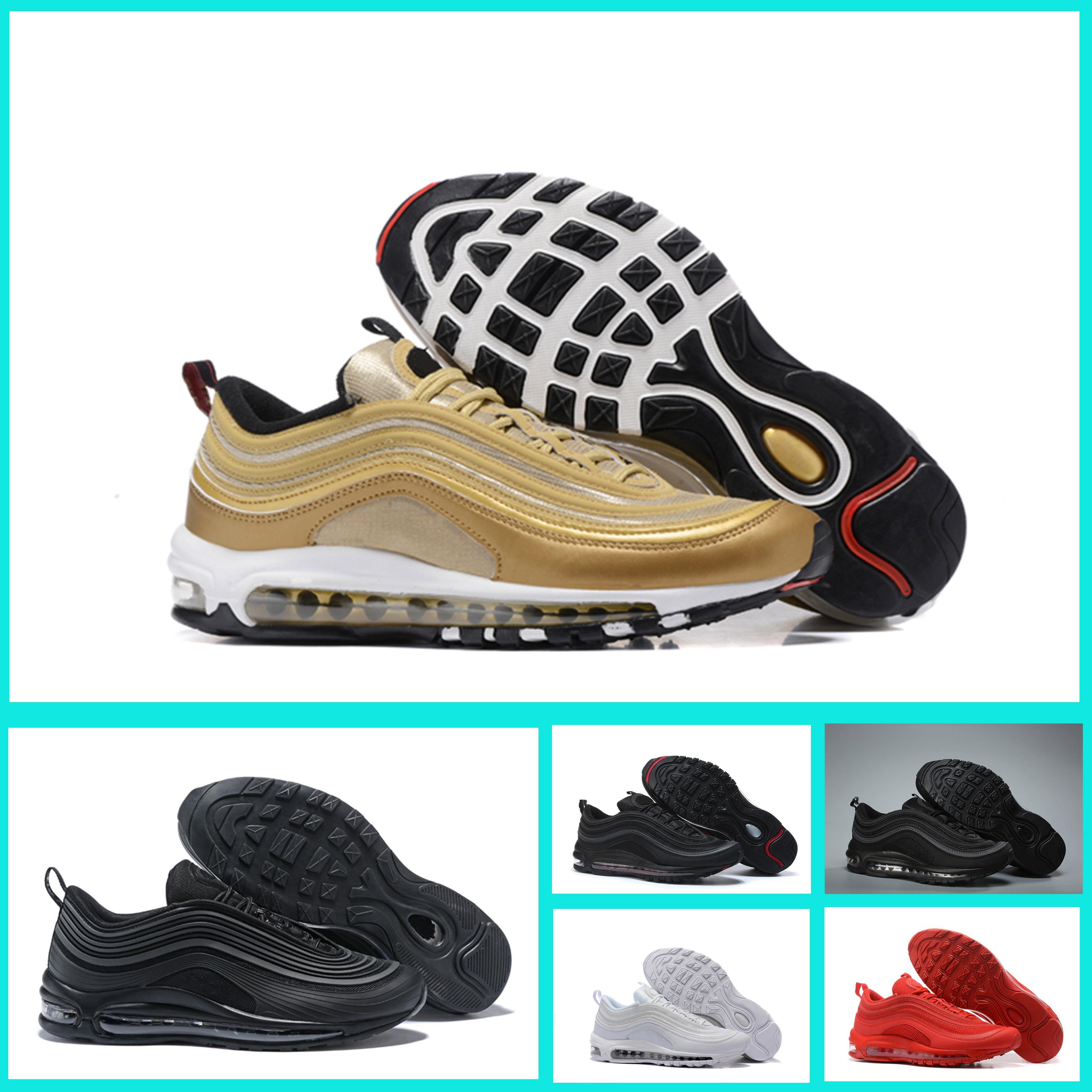 Bullet Chaussures Og Or Max Nike Occasionnels Métallisé Trainers Designer Air Remise Tripel Shoes Argent Sneakers 97 Hommes Meilleurs Blanc EHID29