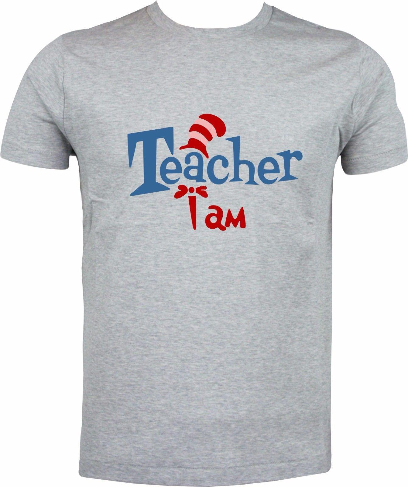 c0e7b1ee885 TEACHER I AM DR SEUSS CAT IN THE HAT FUNNY HUMOUR FULL COLOR SUBLIMATION T  SHIRT T Shirt Of The Day Buy Tshirts From Xm24tshirt