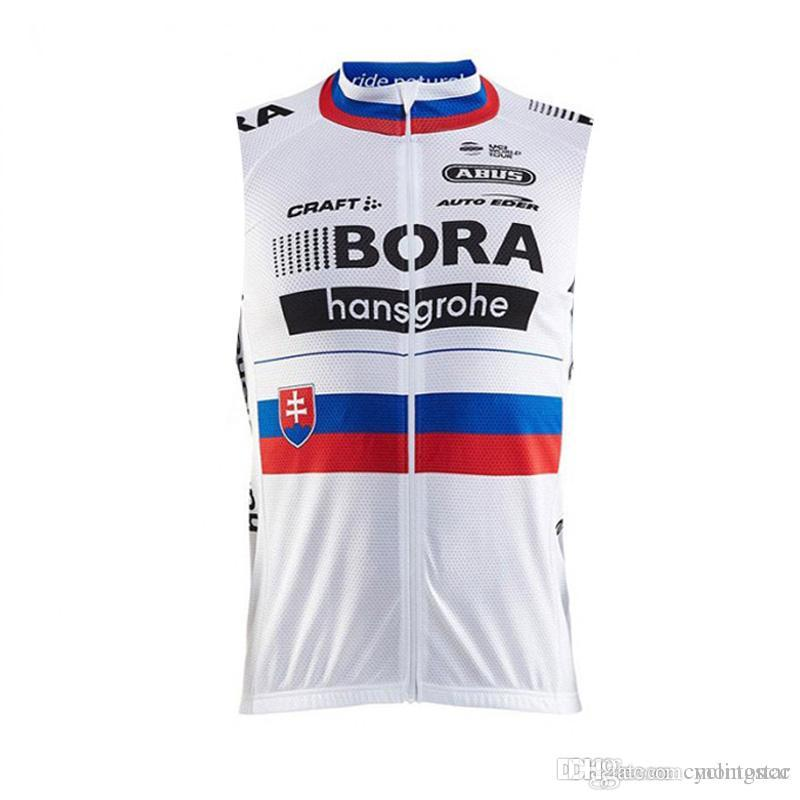 c311f5919 Pro Team BORA 2018 Cycling Sleeveless Jersey Bicycle Clothing Summer ...