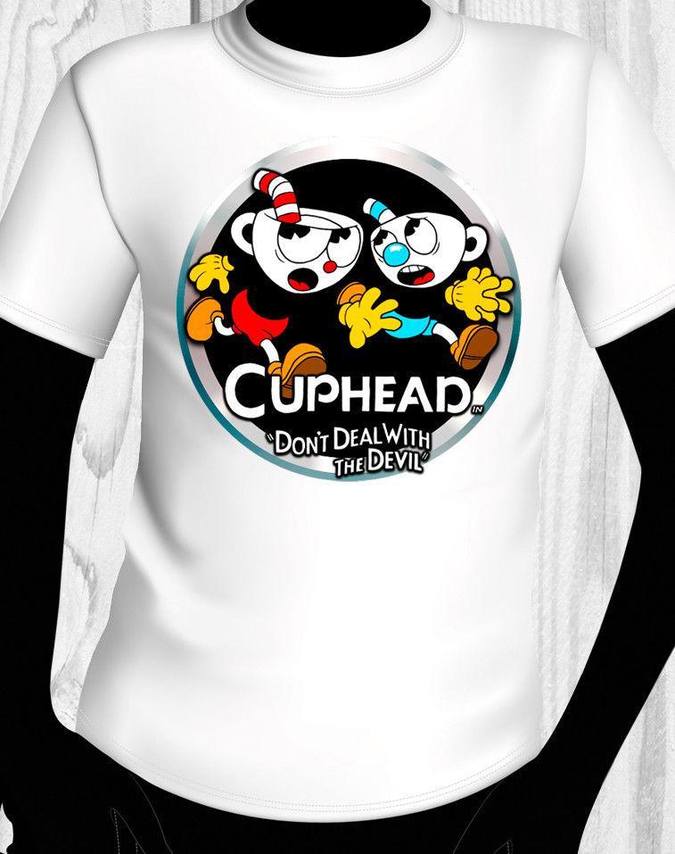 cuphead shirt usa shipping tees custom jersey t shirt short sleeve