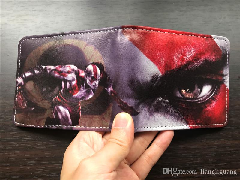Game God of War GOW Men Wallet Black Panther Coin Purse Unisex Wallets ID/Credit Card Holder