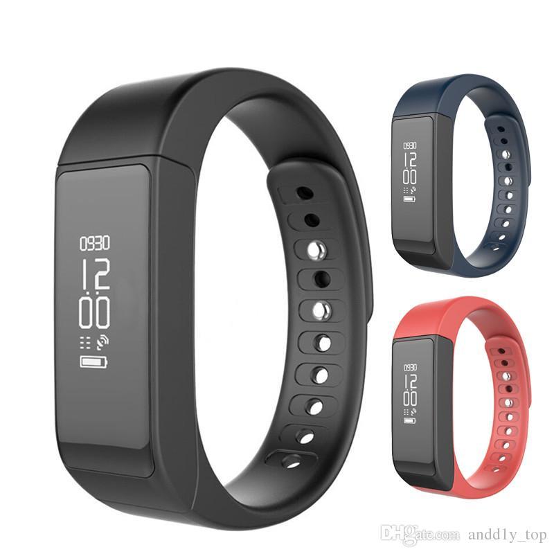 I5 Plus Bluetooth Bracelet de sport intelligent Fitness sans fil avec podomètre Fitness Tracker avec étapes Contrôle du sommeil Surveillance de calories