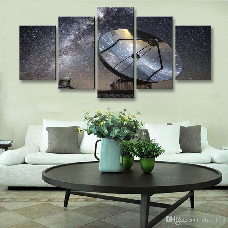 5 pezzi ad alta definizione stampa galassia photography reflectioncanvas pittura a olio poster e wall art soggiorno foto XY-029