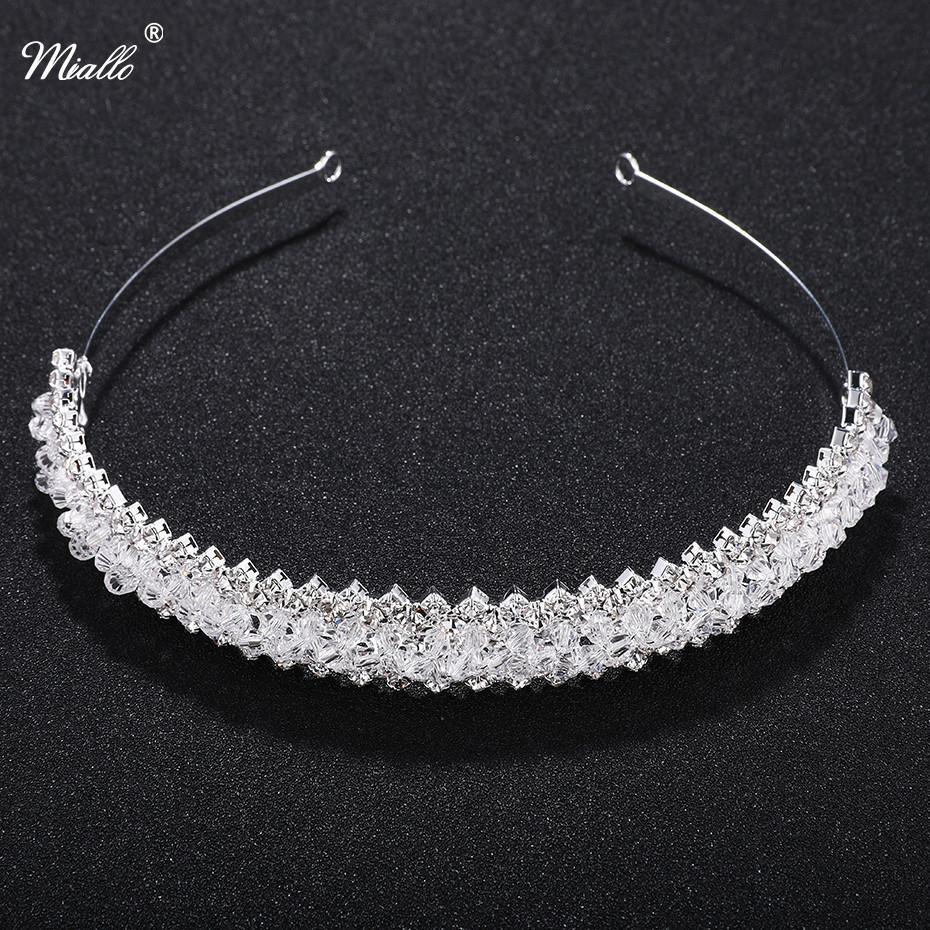 2019 Miallo Fashion Tiara Rhinestone Crystal Crown Bridal Wedding Hair  Accessories Girls Fashion Tiaras Headband Jewelry Rim For Hair S919 From  4bc404a0df67