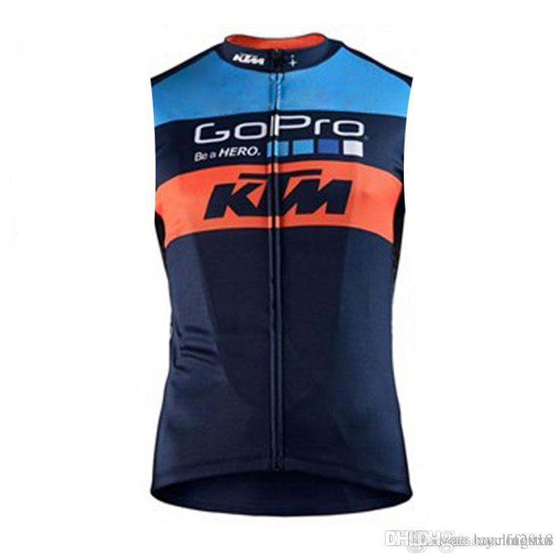 2017 Summer Men KTM Cycling Jersey Quick-Dry MTB Sleeveless Vest Bicycle  Tops Ropa Ciclismo Road Bike Clothing Riding Shirt D2301 KTM Cycling  Jerseys Bike ... 97d646427