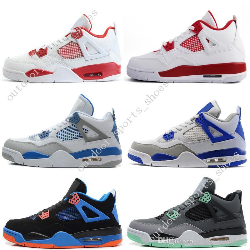 1a603078a54e01 2019 Cheap New 4 4s Men Basketball Shoes Motosports Blue Oreo Eminem White  Cement Pure Money Toro Bravo Bred Alternate 89 Sport Sneakers Designer From  ...
