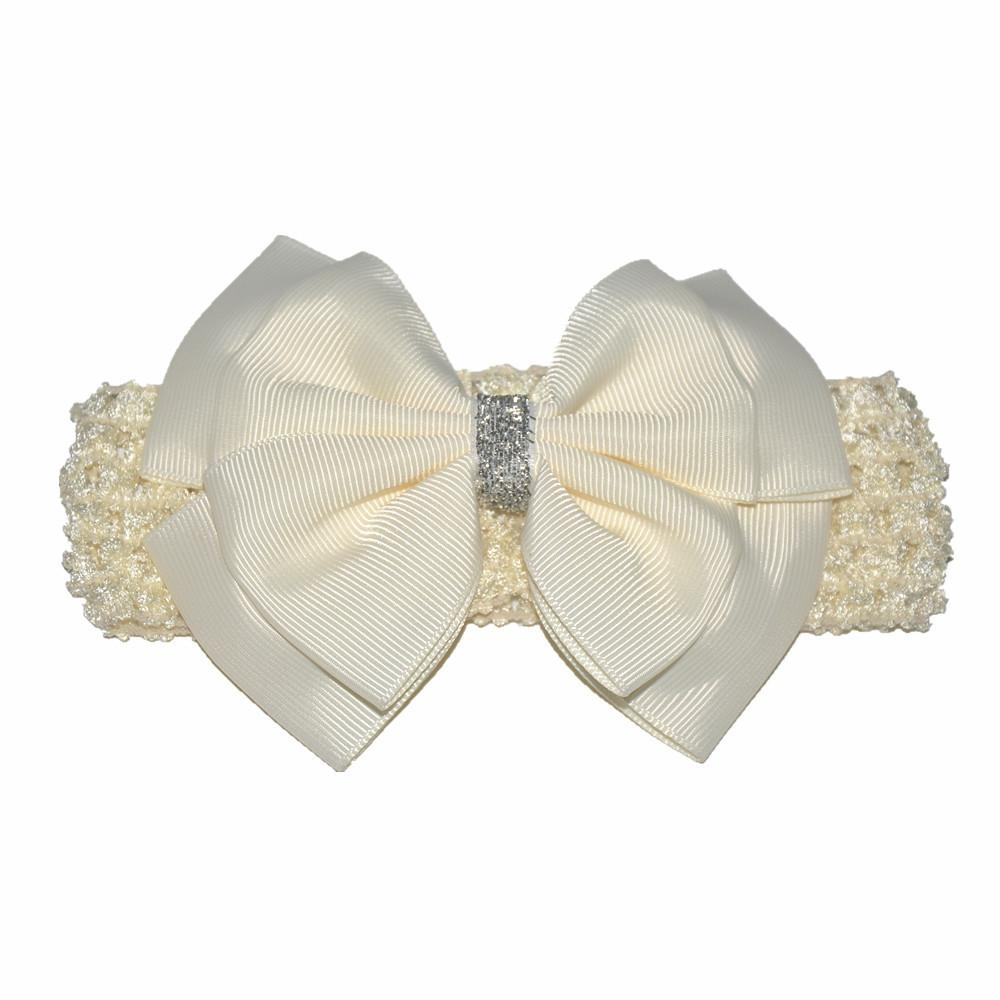 Baby Girls Headbands 4.5 inch Hair Bows Toddler Princess Hairbands Kids Fashion Elastic Accessories