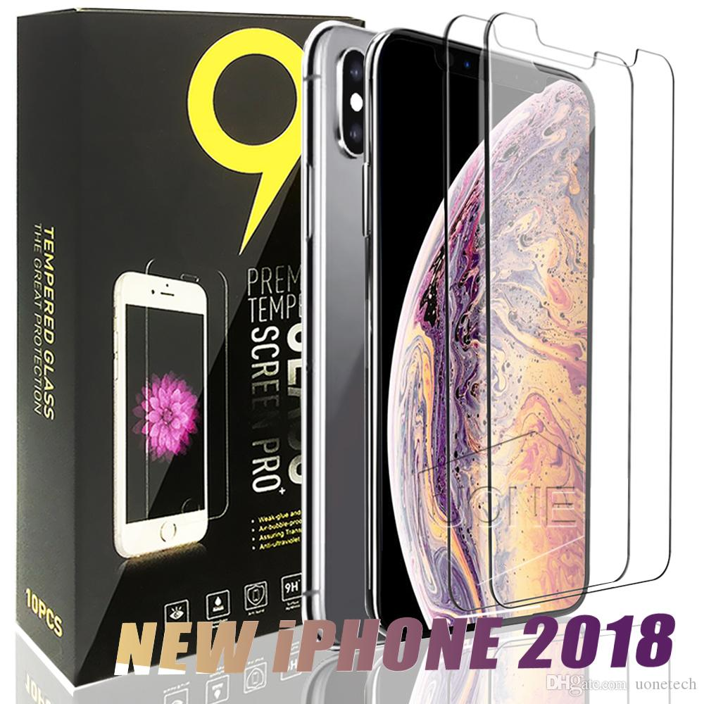 For 2018 NEW Iphone XR XS MAX 8PLUS X Tempered Glass Screen Protector for iPhone 6S Plus Samsung S6 S7 Note 5 screen clear film protection