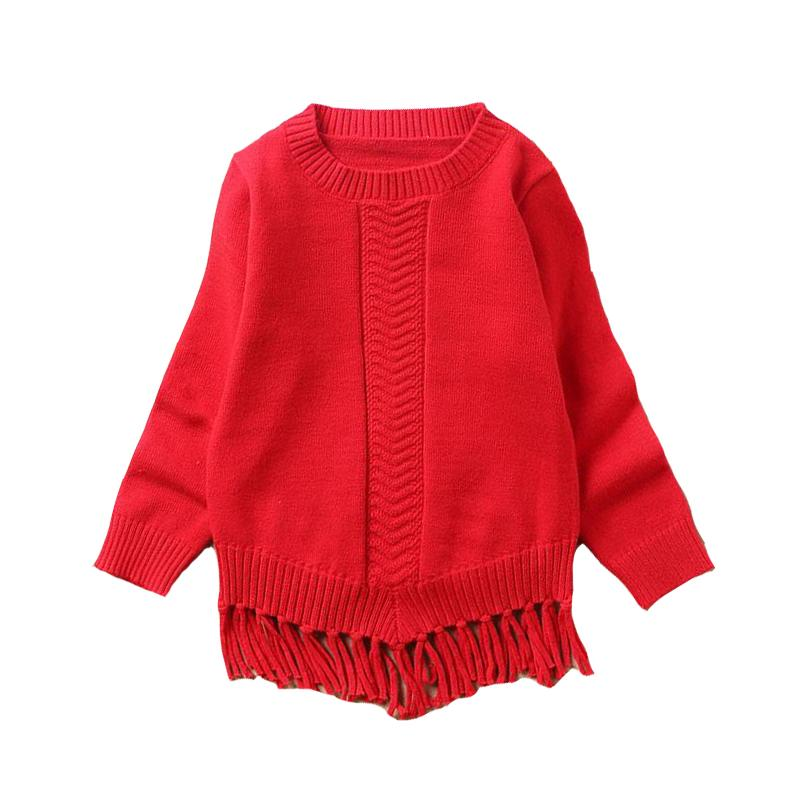 23ee5729337c Kids Knied Sweaters For Girls Children Clothing 3 5 Pullover Tassels ...