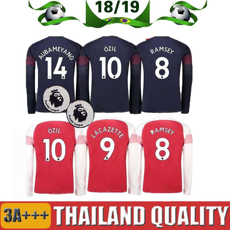 2019 18 19 Long Sleeve Manchester United Soccer Jersey 2018 2019 POGBA  ALEXIS LUKAKU RASHFORD LINGARD FRED MATIC LINDELOF MARTIAL Football Shirt  From ... 433429a9a