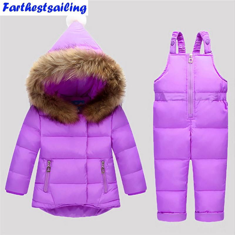 5a6a710d4 Down Jacket For Girls Snowsuit Winter Overalls For Boy Children Warm ...