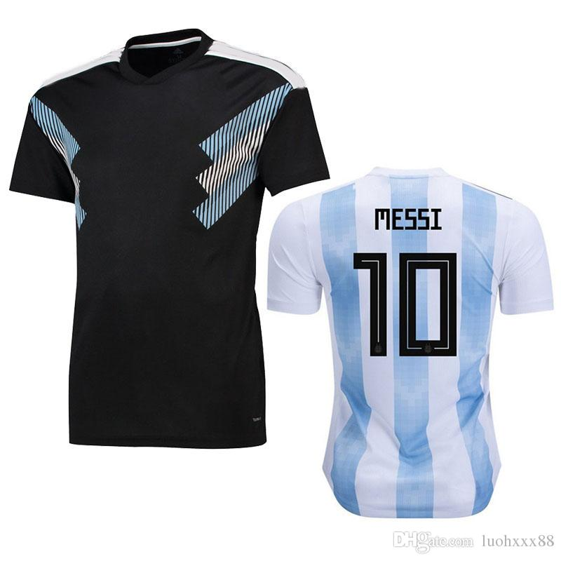 2019 2018 World Cup Argentina Soccer Jersey Home Away Soccer Shirt  10  MESSI  9 AGUERO  11 DI MARIA National Team Football Uniform Size S XXXL  From ... e15570595
