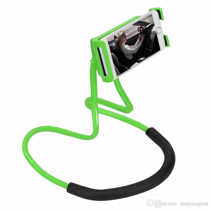 Lazy Hanging Neck Phone Stands Necklace Cellphone Support Bracket for Samsung Universal Holder for iphone Free